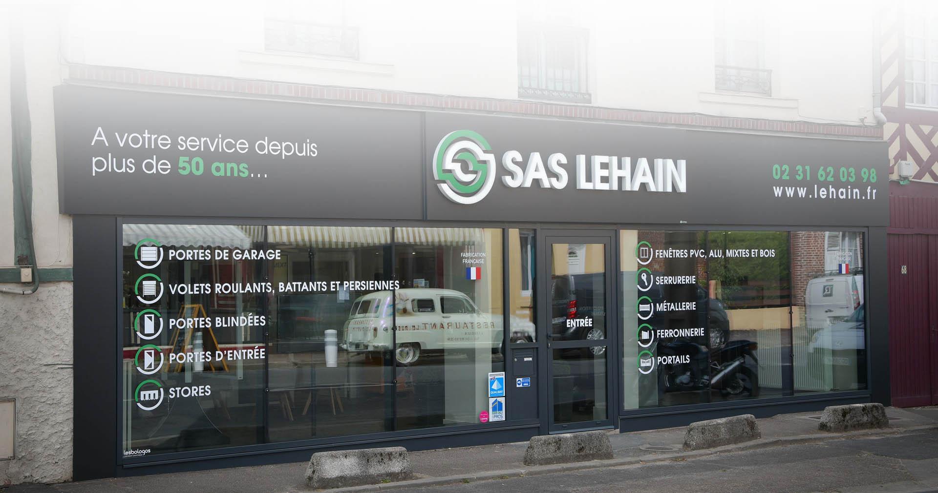 A propos de la SAS Lehain à Lisieux : portes, fenêtres, portails, volets roulants, serrurerie, métallerie...